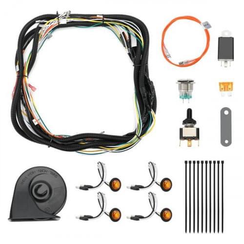 Комплект поворотников универсальный для всех UTV со звуковым сигналом Kemimoto