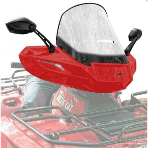 Стекло для квадроцикла универсальное с зеркалами ATV WindPro Viper Red